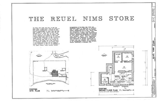 Reuel Nims Store, South terminus of Parkview Street, Humboldt, Richardson County, NE