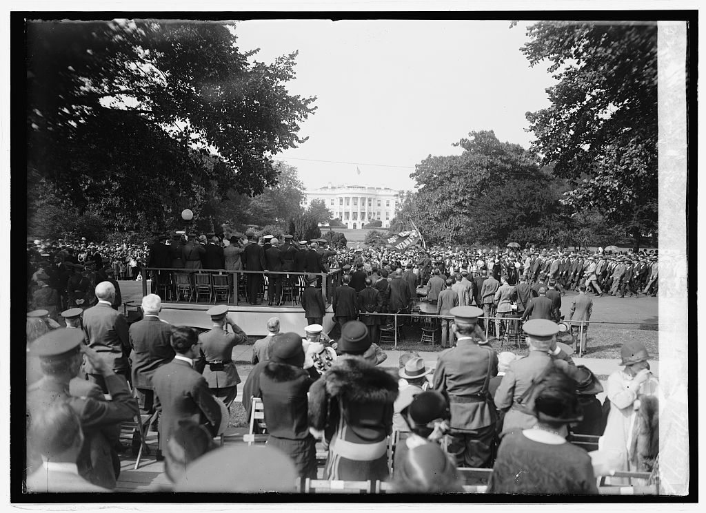 Reviewing stand for Defense Day parade, 9/12/24