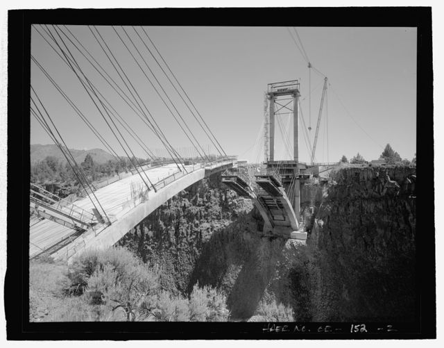 Rex T. Barber Veterans Memorial Bridge, Spanning Crooked River Gorge, Dalles-California Highway (US 97), Terrebonne, Deschutes County, OR