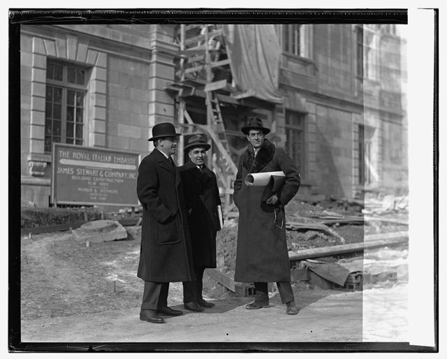 R.H. Pearce, Signor Augusto Rosso, Amb. Caetani at new embass., 1/25/25