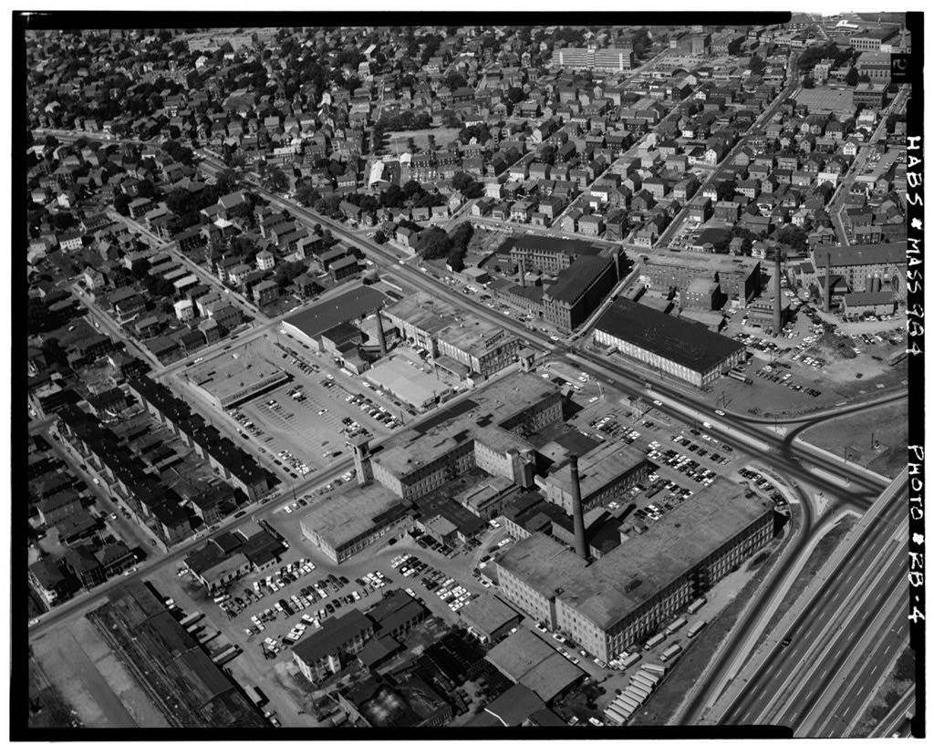 Richard Borden Manufacturing Company, No. 1 Mill, Rodman Street & Plymouth Avenue, Fall River, Bristol County, MA