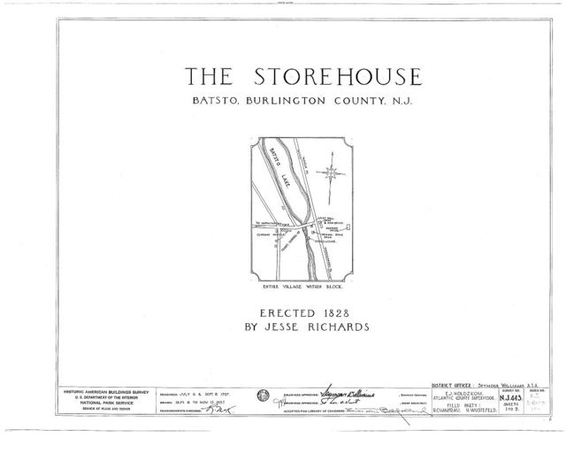 Richards Store House, Batsto, Burlington County, NJ