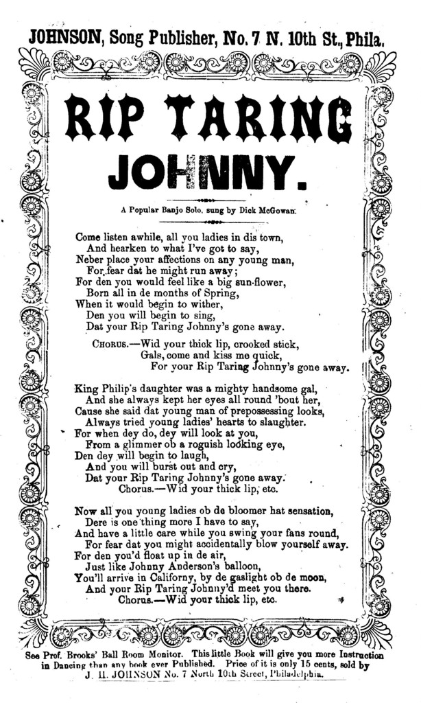 Rip Taring Johnny. Johnson, Song Publisher, ... Phila