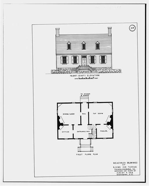 Rising Sun Tavern, 1306 Caroline Street, Fredericksburg, Fredericksburg, VA