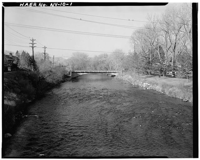 Riverside Bridge, Spanning Truckee River at Booth Street, Reno, Washoe County, NV