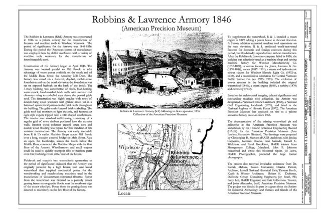 Robbins & Lawrence Armory, 196 Main Street, Windsor, Windsor County, VT