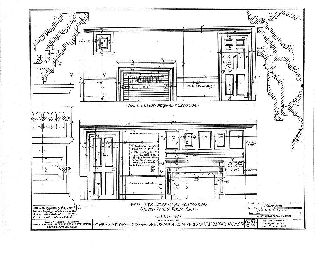 Robbins-Stone House, 699 Massachusetts Avenue, Lexington, Middlesex County, MA
