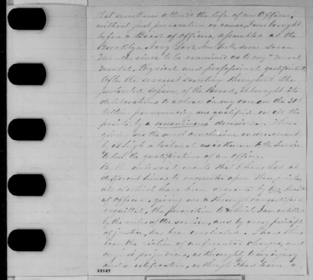 Robert B. Riell to Abraham Lincoln, Tuesday, April 05, 1864  (Navy promotion; with copy of endorsement by Abraham Lincoln, September 3, 1863)
