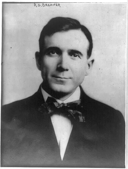 [Robert Gunn Bremner, 1874-1914, bust portrait, facing left]