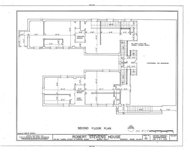 Robert Stevens House, 261-265 Thames Street, Newport, Newport County, RI
