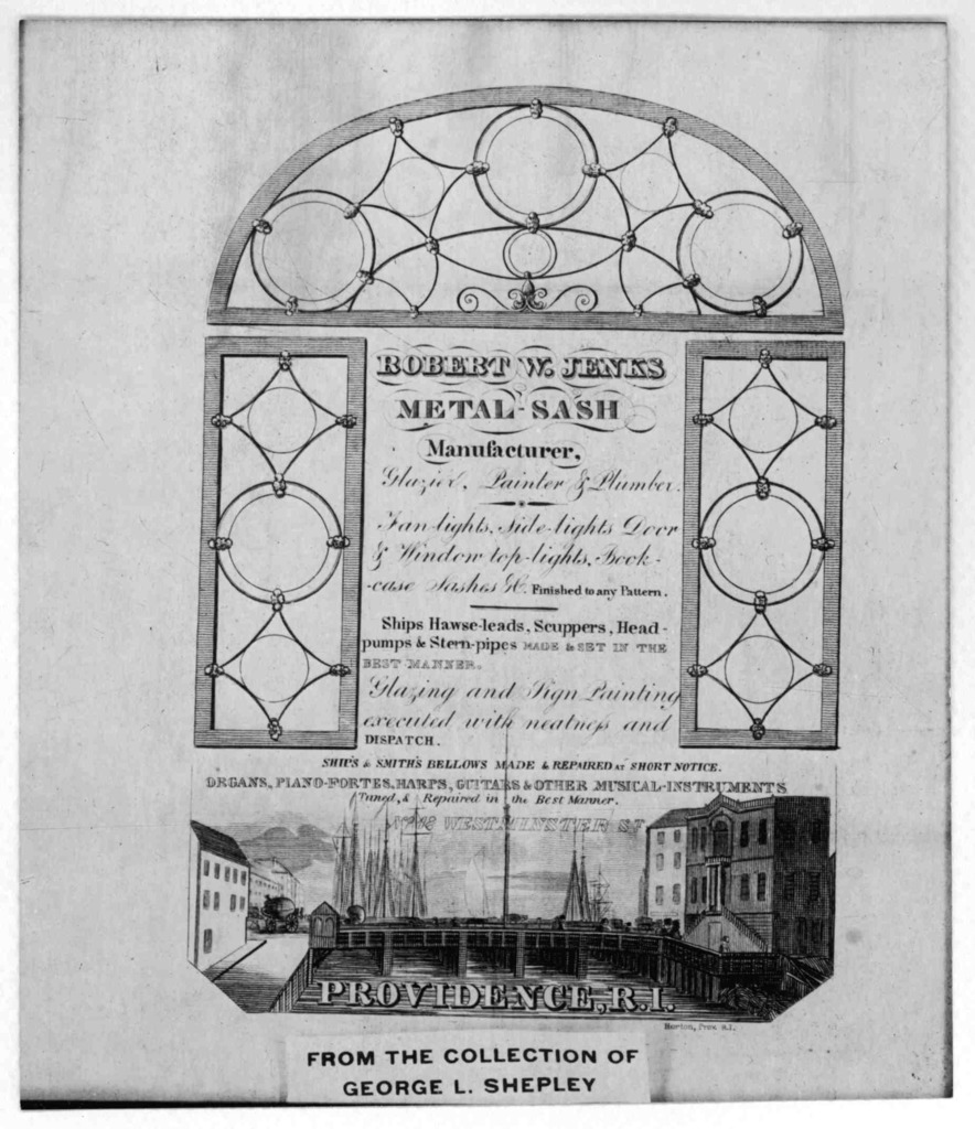 Robert W. Jenks metal sash manufacturer, glazier, painter & plumber ... Providence, R.I. Horton, Pr. [n. d.].