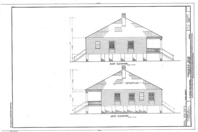Robicheaux House, Southwest of River Road on Crescent Farm Plantation, Lutcher, St. James Parish, LA