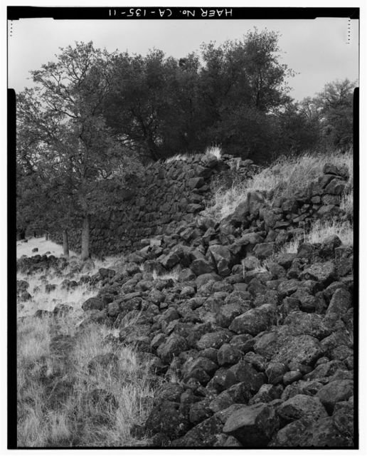 Rock Wall, North side of Battle Creek Canyon, Shingletown, Shasta County, CA