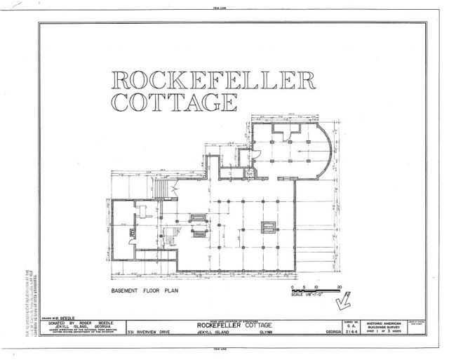 Rockefeller Cottage, 331 Riverview Drive, Brunswick, Glynn County, GA