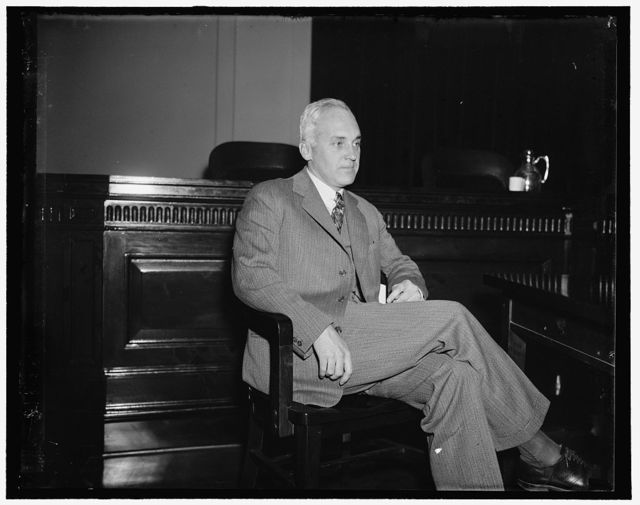 Rockefeller's son-in-law before Sec. Inquiry. Washington, D.C., Dec. 17. David Milton, John D. Rockefeller's son-in-law, appeared before the Securities and Exchange Commission Investment Trust Inquiry. By putting up $13,000 in cash and 6500 shares of inactive insurance, Milton told the Sec. he eventually won control of $218,000,000 investment concern. Milton is President of the Equity Corporation