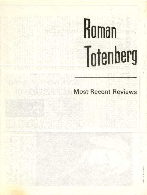 Roman Totenberg, most recent reviews