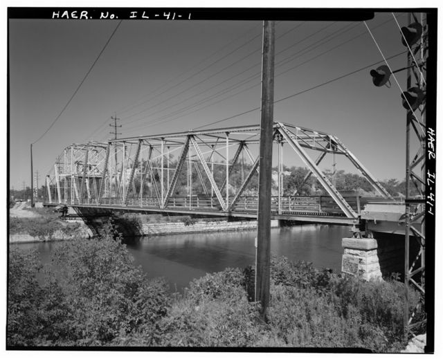 Romeo Road, Sanitary & Ship Canal Bridge, Spanning Sanitary & Ship Canal, Romeoville, Will County, IL