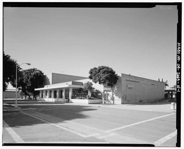 Roosevelt Base, Recreation & Bowling Alley, Corner of West Virginia Street & Richardson Avenue, Long Beach, Los Angeles County, CA