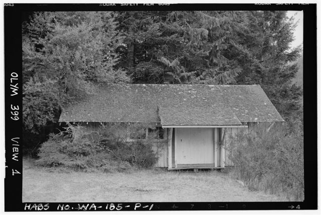 Rosemary Inn, Boathouse, Olympic National Forest, Barnes Point, Lake Crescent, Port Angeles, Clallam County, WA