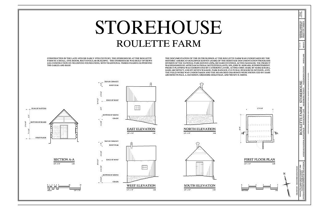 Roulette Farm, Storehouse, Sharpsburg, Washington County, MD