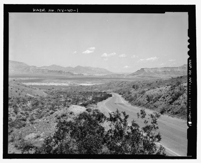 Route No. 1-Overton-Lake Mead Road, Between Overton Beach & Park Boundary, 6 miles south of Overton, Overton, Clark County, NV