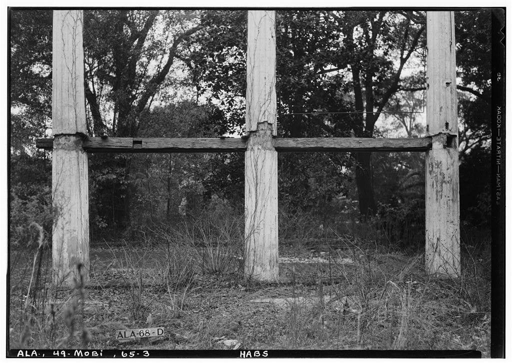 Ruins of Augusta Evans Wilson House, Lanier Avenue, Mobile, Mobile County, AL