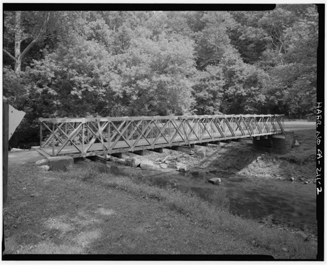Rush's Mill Bridge, Spanning Plum Creek at North end of Union Canal Bicycle & Walking Trail, Sinking Spring, Berks County, PA