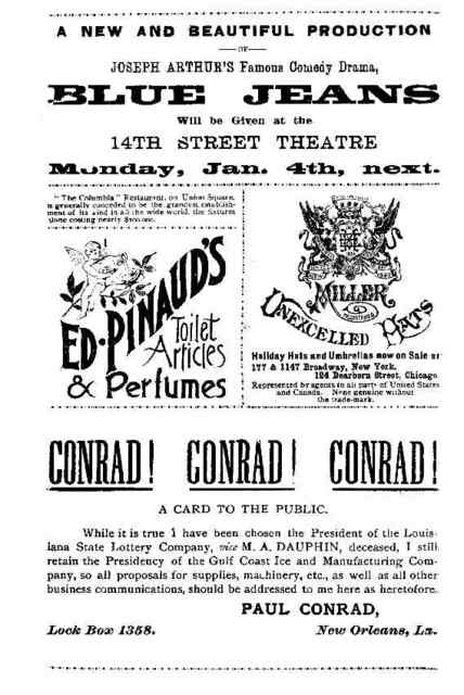 Russell's New Comedians Bijou Theatre Company. . . presenting Paul M. Potter's absurdity, The new city directory.