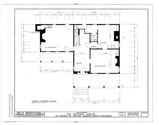 Rutandt House, 123 Prospect Avenue, Nutley, Essex County, NJ