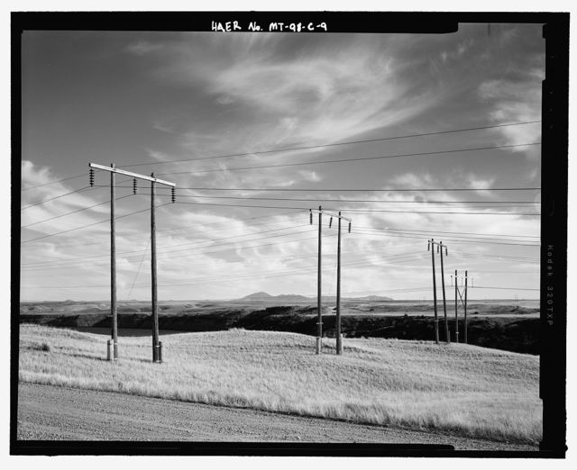 Ryan Hydroelectric Facility, Ryan-to-Rainbow 100 kV Transmission Line, West bank of Missouri River, northeast of Great Falls, Great Falls, Cascade County, MT