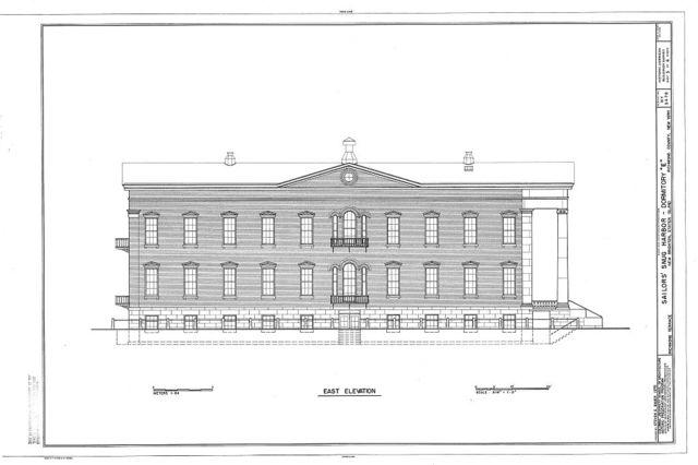Sailors' Snug Harbor, Dormitory E, Richmond Terrace, New Brighton, Richmond County, NY