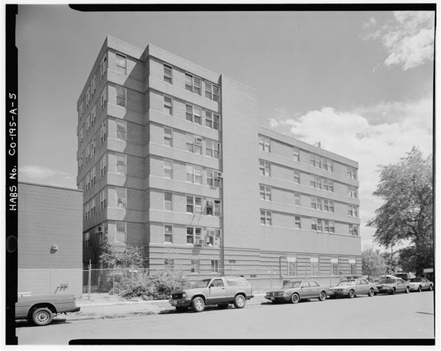 Saint Luke's Hospital, Nurses' Home, 501 East Nineteenth Avenue, Northeast corner of East Nineteenth Avenue & Pennsylvania Street, Denver, Denver County, CO