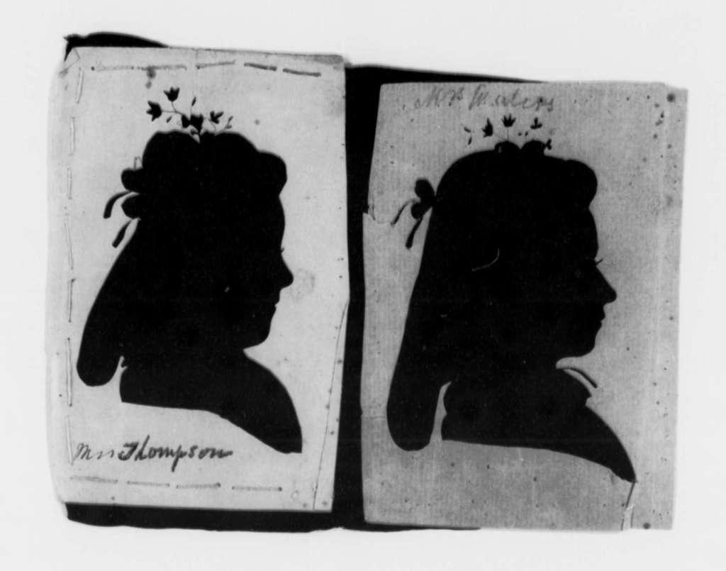 Salley Maria Thompson to Martha Randolph, no date, Silhouettes of Two Women