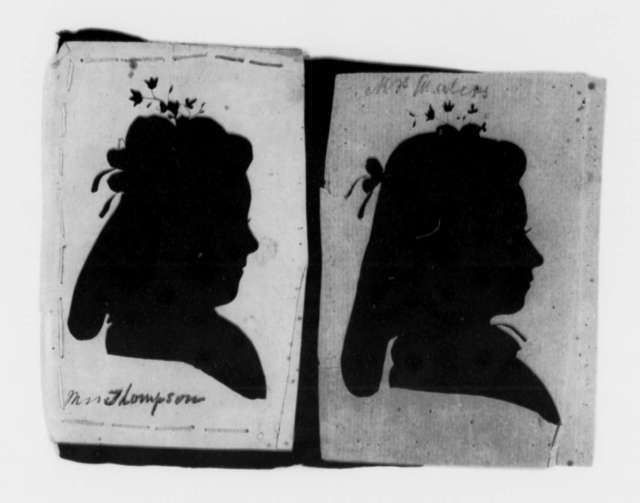 Salley Maria Thompson to Martha Randolph, no date, Silhouettes of Two Women