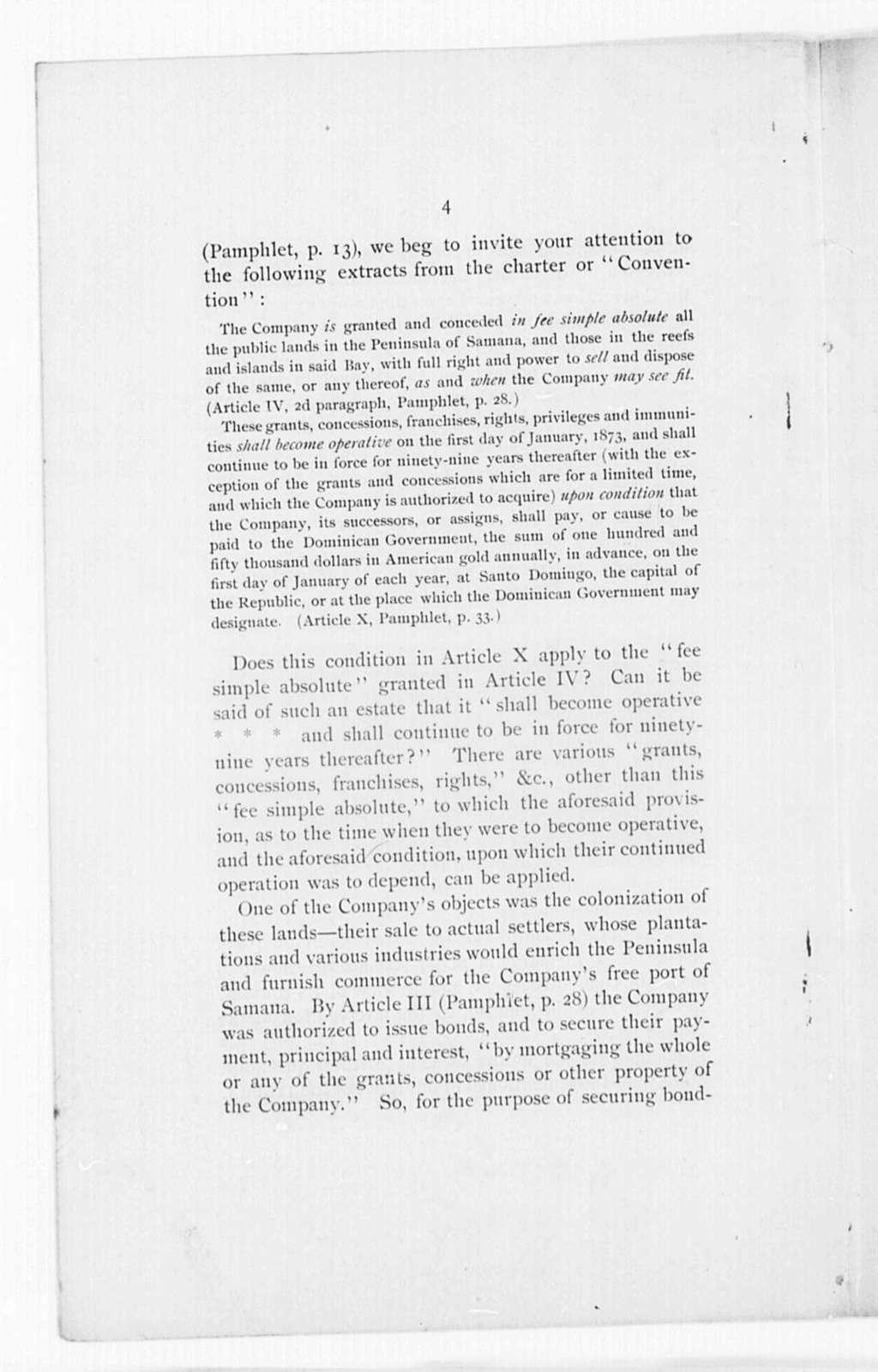 Samana Bay Co. of Santo Domingo v. Dominican Government - Folder 1 of 2