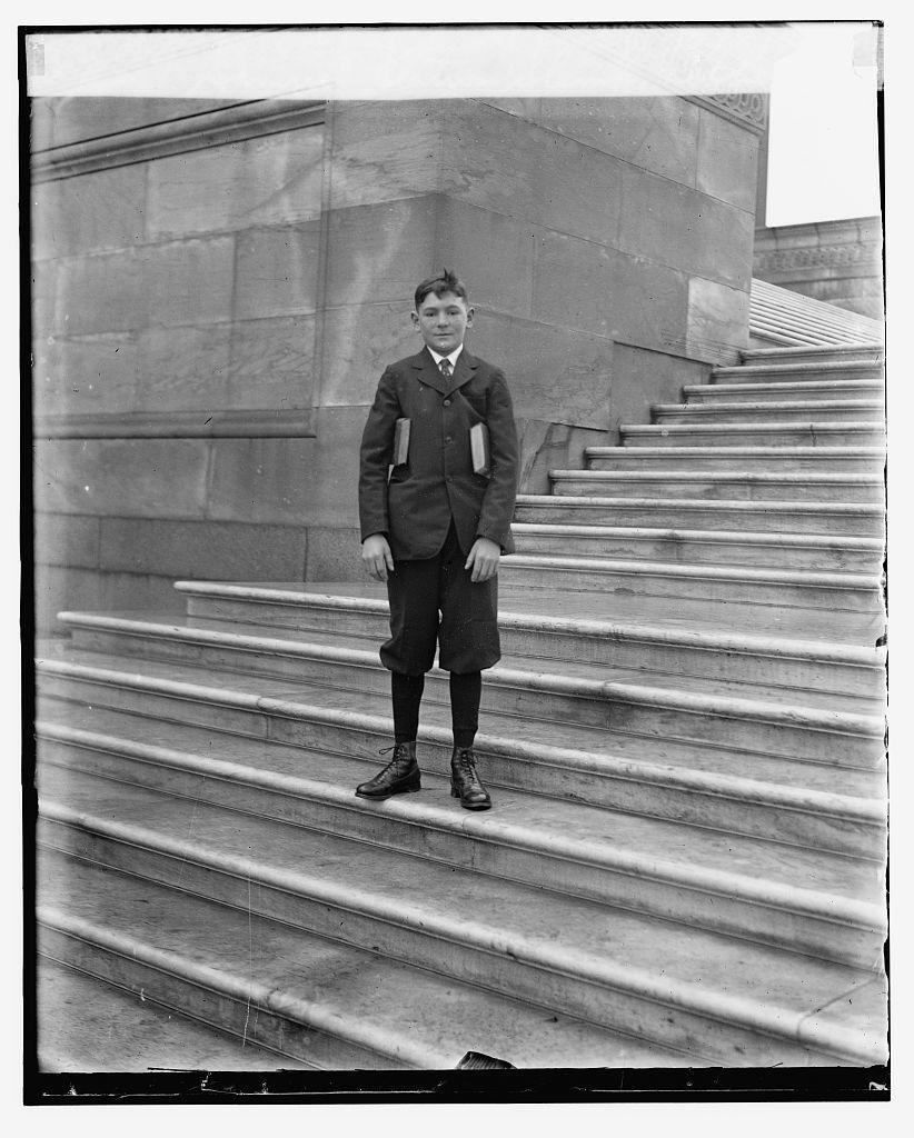 Samuel Cletus Slemp, Nephew of C.B. (Senate page), 12/8/24