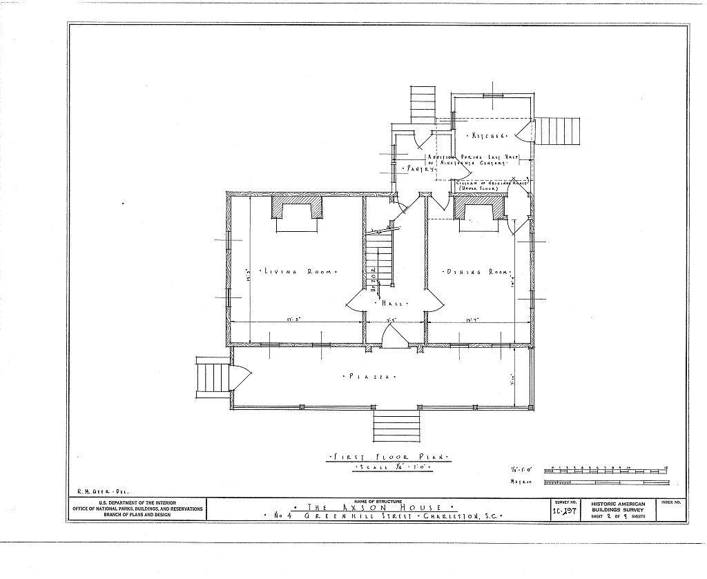 Samuel Edward Axson House, 4 Greenhill Street, Charleston, Charleston County, SC