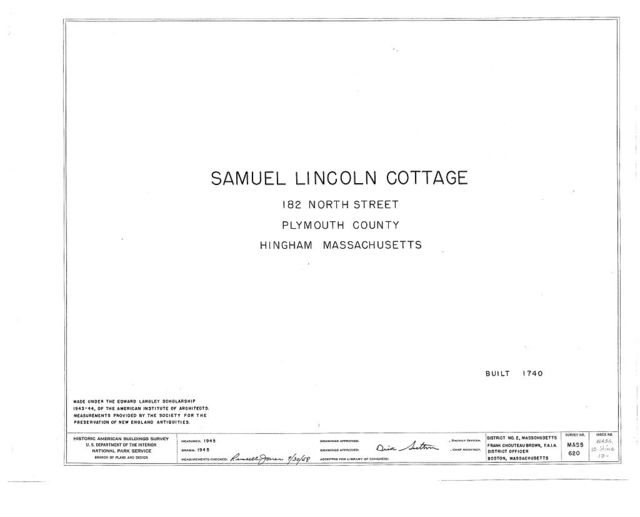 Samuel Lincoln Cottage, 182 North Street, Hingham, Plymouth County, MA