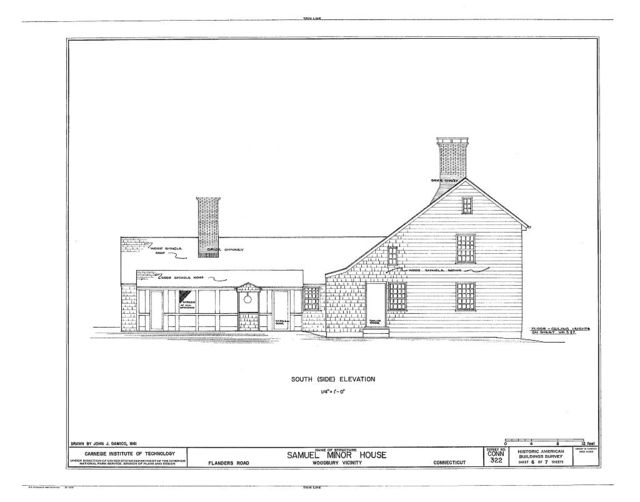Samuel Minor House, West side of Flanders Road, Woodbury, Litchfield County, CT