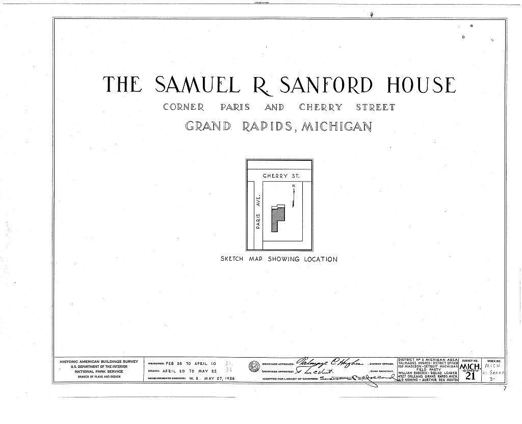 Samuel Sanford House, 540 Cherry Street, Grand Rapids, Kent County on benzie county mi map, person county map, old cobb county map, monroe county mi street map, grand rapids zip code map, ottawa county street map, harris county tx street map, jackson county mi street map, morrison county road map, livingston county mi street map, essex county nj street map, montgomery county md street map, caledonia township michigan street map, gaines county road map, southwest mi map, macomb county mi street map, kent county districts, michigan county map, kent county seal,