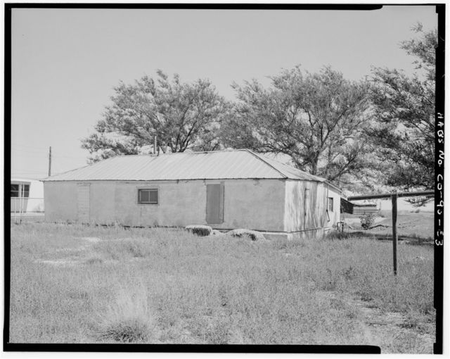 Samuel T. Brown's Sheep Ranch, Main Residence, 110 feet southeast of original residence, Model, Las Animas County, CO