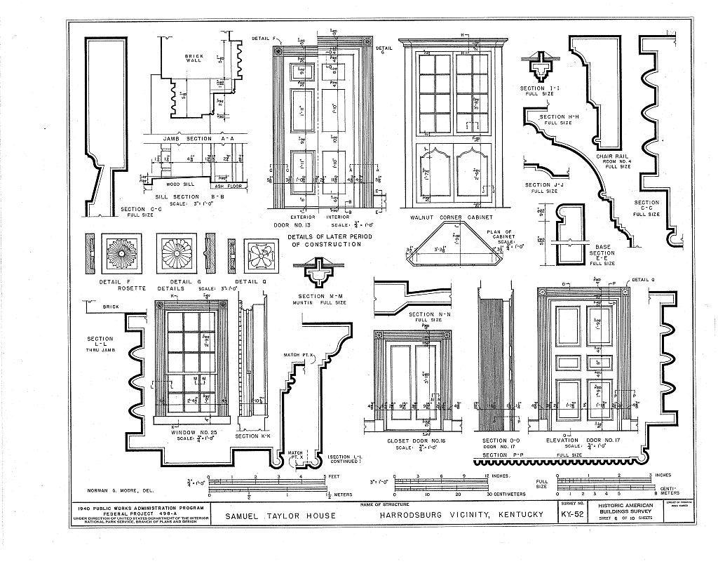 Samuel Taylor House, Chatham Pike, Harrodsburg, Mercer County, KY