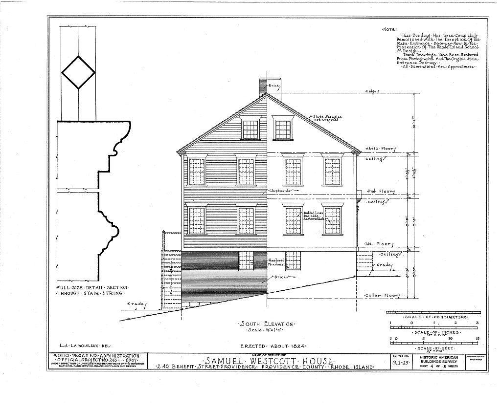 Samuel Westcott House, 240 Benefit Street, Providence, Providence County, RI