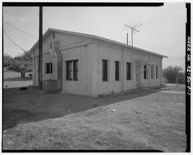 San Carlos Irrigation Project, Ashurst-Hayden Dam, Dam Tender's House, Gila River, T4S R11E S7, Coolidge, Pinal County, AZ