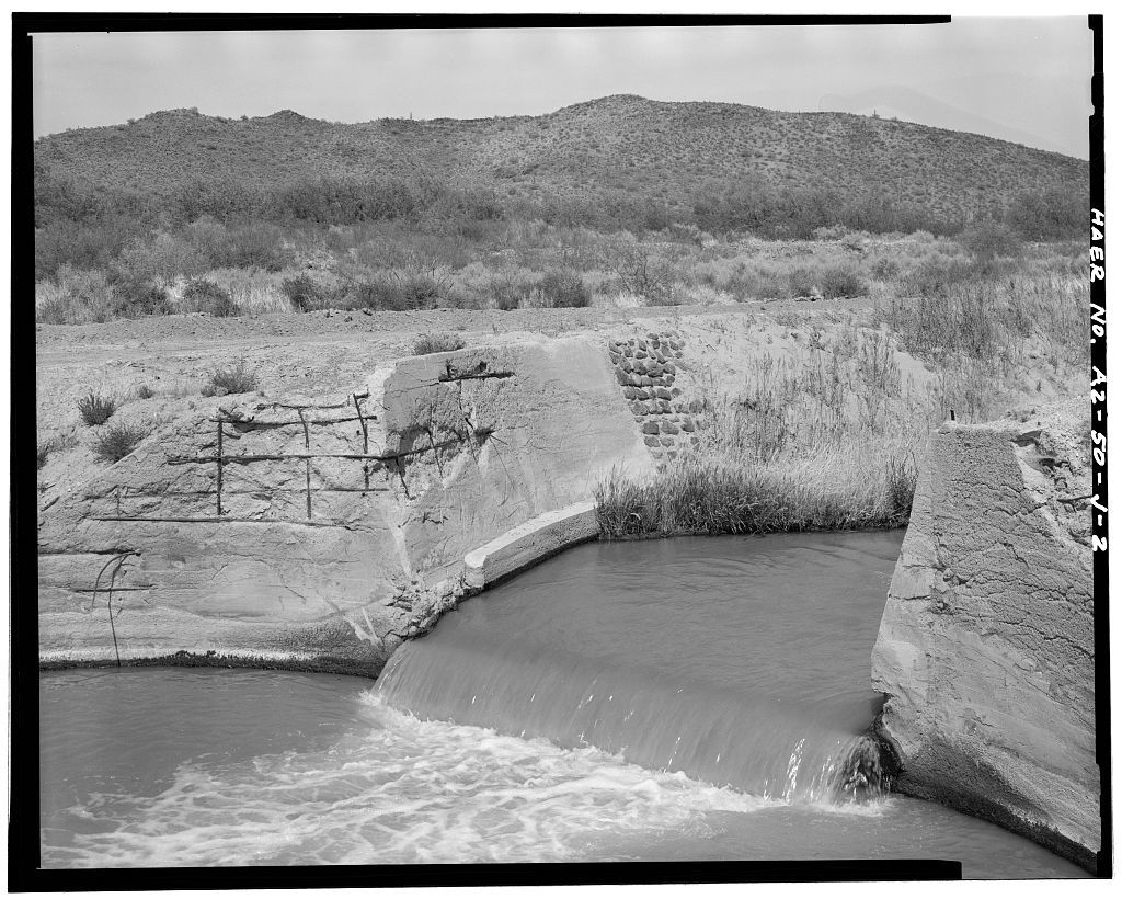 San Carlos Irrigation Project, San Tan Flood Water Canal, North Side of Gila River, Coolidge, Pinal County, AZ