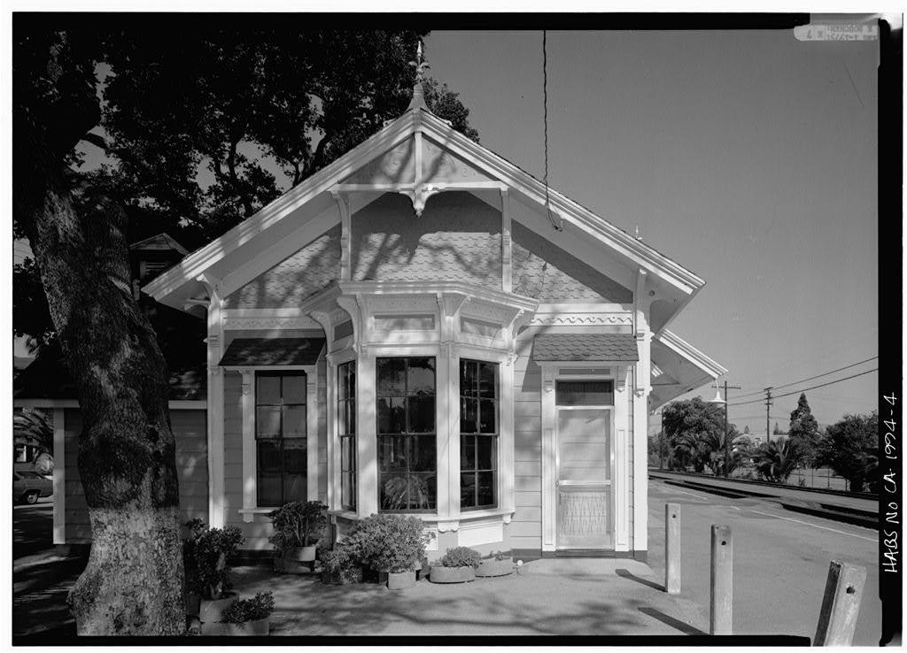San Francisco & San Jose Railroad Station, 1100 Merrill Street, Menlo Park, San Mateo County, CA