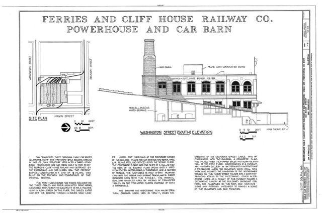 San Francisco Cable Railway, Cable Car Powerhouse & Barn, 1201 Mason Street, San Francisco, San Francisco County, CA