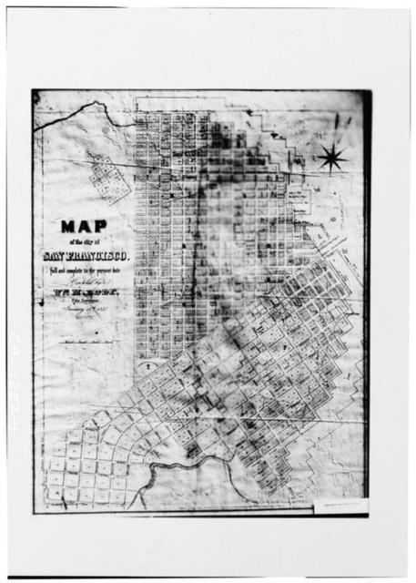 San Francisco, Historic View, 1852 Plat Map, San Francisco, San Francisco County, CA