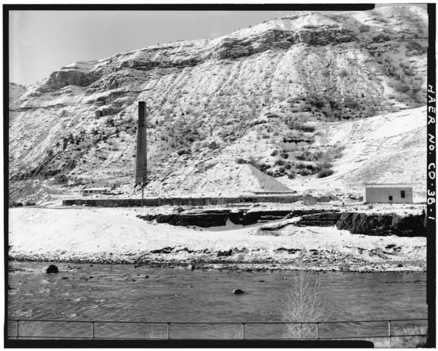 San Juan & New York Mining & Smelting Company, Smelter Stack, State Route 160, Durango, La Plata County, CO