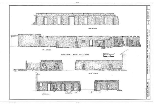 San Miguel del Vado, Territorial House, Upper Pecos River Valley, San Miguel, San Miguel County, NM